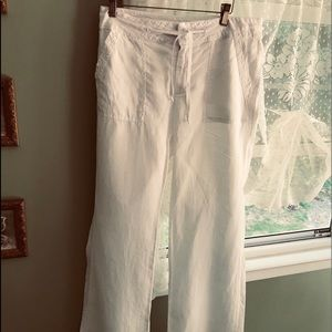Moon and Meadow White Linen pants S NWT